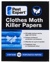 Pest Expert Clothes Moth Killer Papers (x 10)
